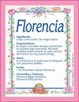 Nombre Florencia