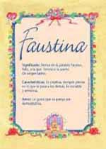 Nombre Faustina