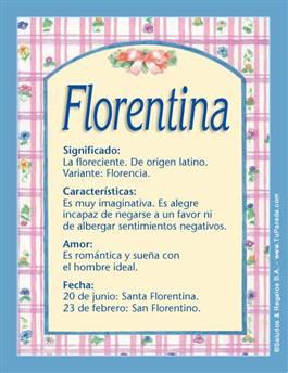 Nombre Florentina