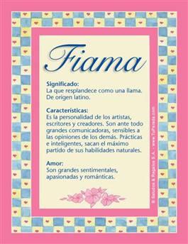 Nombre Fiama