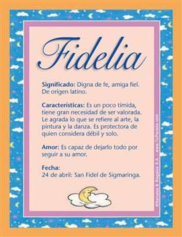 Nombre Fidelia