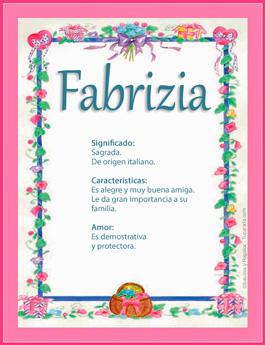 Nombre Fabrizia