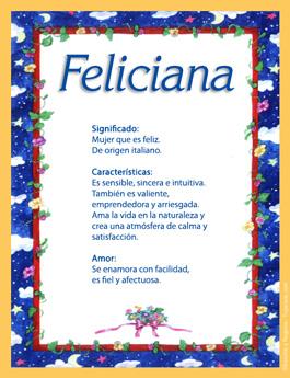 Nombre Feliciana