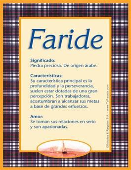 Nombre Faride