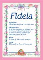 Nombre Fidela