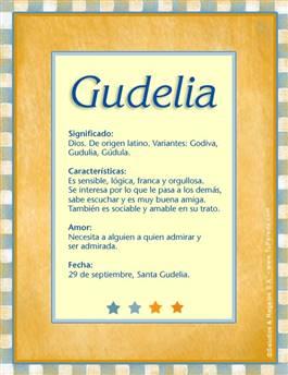 Nombre Gudelia