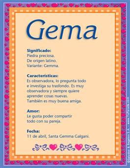 Nombre Gema