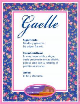 Nombre Gaelle