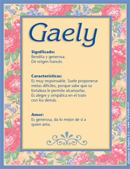Nombre Gaely