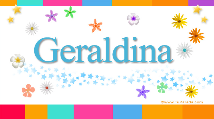Geraldina, imagen de Geraldina
