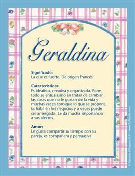 Nombre Geraldina