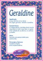 Nombre Geraldine