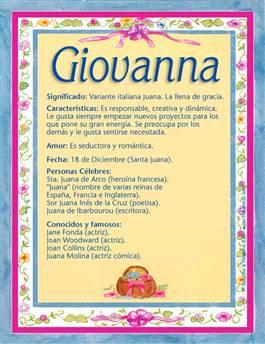 Nombre Giovanna