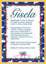 Nombre Gisela