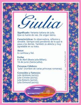 Nombre Giulia