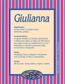 Nombre Giulianna