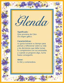 Nombre Glenda