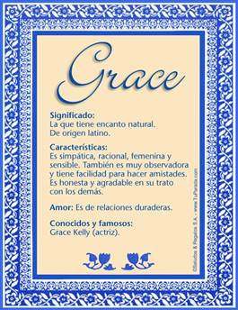 Nombre Grace