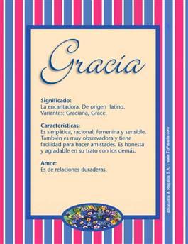 Nombre Gracia