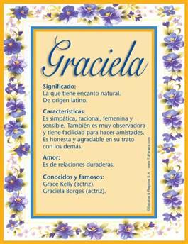Nombre Graciela