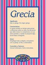 Nombre Grecia