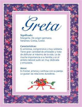 Nombre Greta