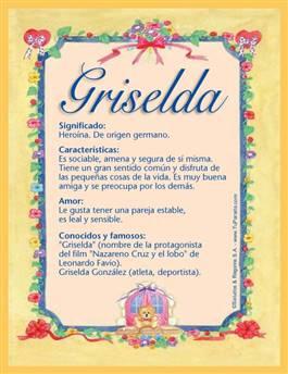 Nombre Griselda