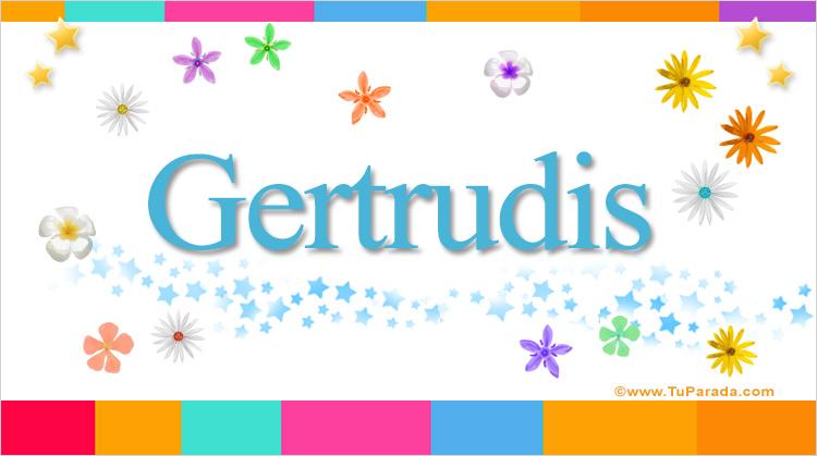 Gertrudis, imagen de Gertrudis