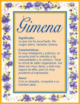 Nombre Gimena