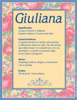 Nombre Giuliana