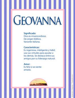 Nombre Geovanna