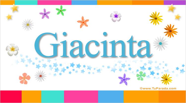 Giacinta, imagen de Giacinta