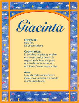 Nombre Giacinta