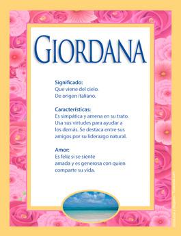 Nombre Giordana