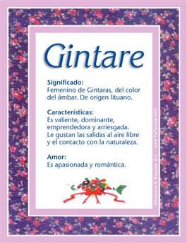 Nombre Gintare