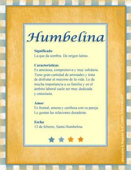 Nombre Humbelina