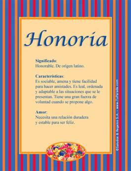 Nombre Honoria