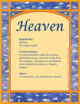 Nombre Heaven