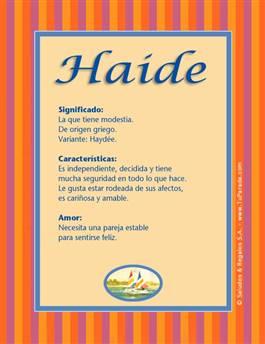 Nombre Haide