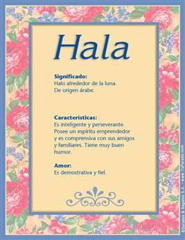 Nombre Hala