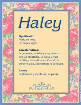 Nombre Haley