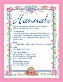 Nombre Hannah