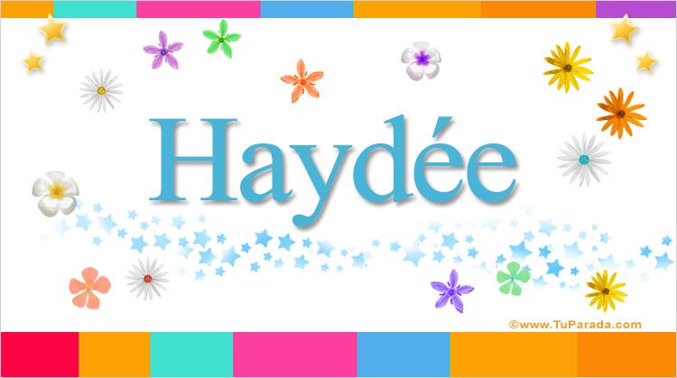 Haydée, imagen de Haydée