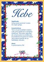 Nombre Hebe