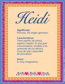 Nombre Heidi