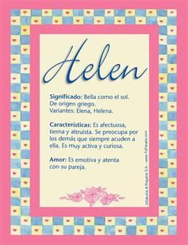 Nombre Helen