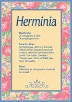 Nombre Herminia