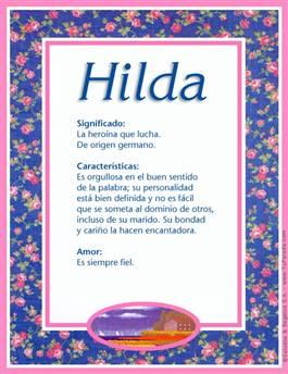 Nombre Hilda