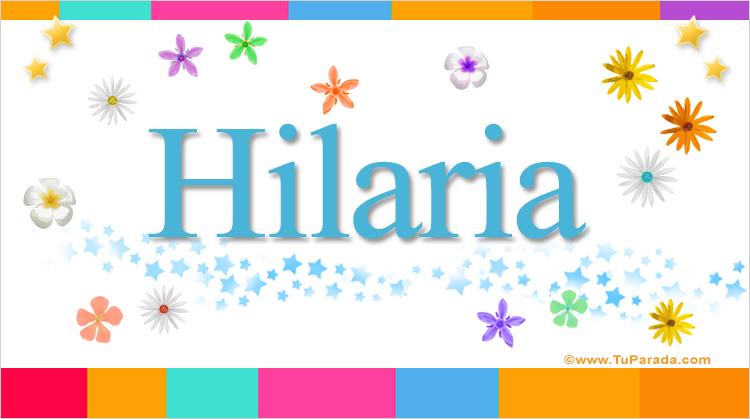 Hilaria, imagen de Hilaria