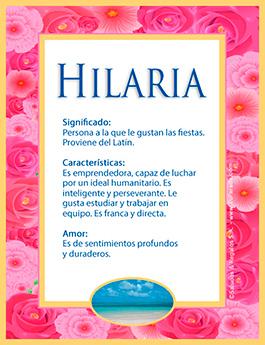 Nombre Hilaria